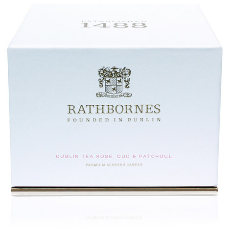 Dublin Tea Rose, Oud and Patchouli Luxury Candle, ${color}