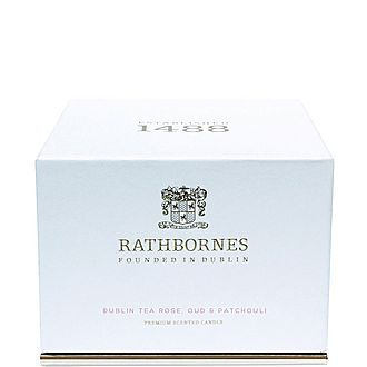 Dublin Tea Rose, Oud and Patchouli Luxury Candle
