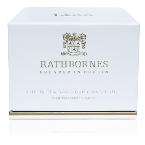 Dublin Tea Rose, Oud and Patchouli Travel Candle, ${color}