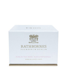 Dublin Tea Rose, Oud and Patchouli Travel Candle