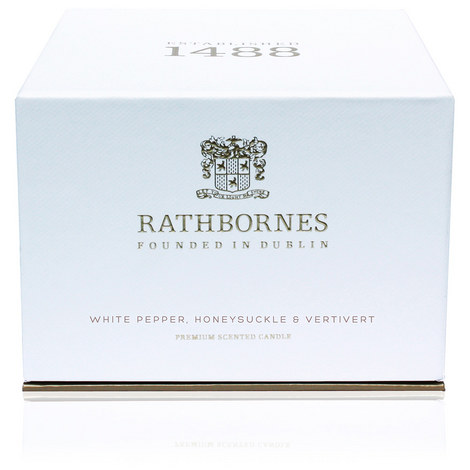 White Pepper, Honeysuckle and Vertivert Luxury Candle, ${color}