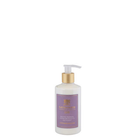 White Pepper, Honeysuckle and Vertivert Luxury Hand and Body Lotion, ${color}