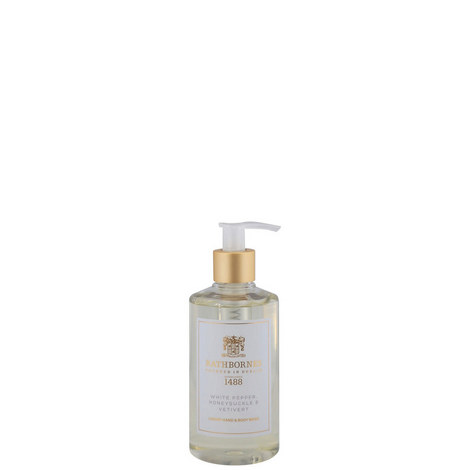 White Pepper, Honeysuckle and Vertivert Luxury Hand and Body Wash, ${color}