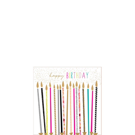 Happy Birthday Candles Card, ${color}