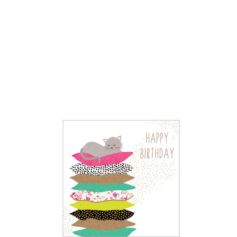 Cat Nap Birthday Card, ${color}