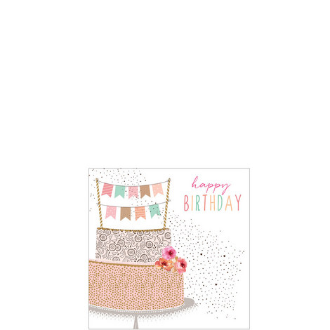 Tower Cake Birthday Card, ${color}