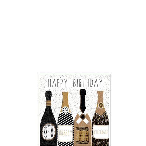 Bubbly Birthday Card, ${color}