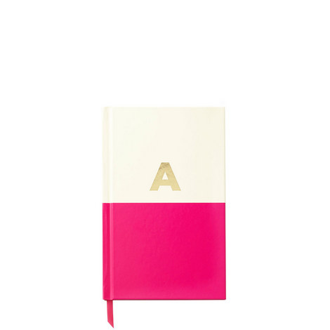 Dipped Initial A Notebook, ${color}