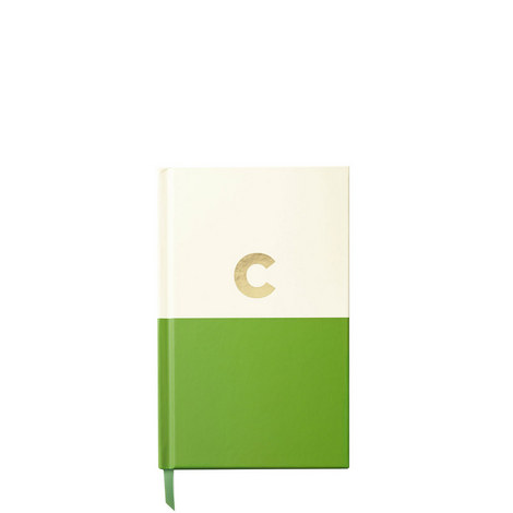 Dipped Initial C Notebook, ${color}