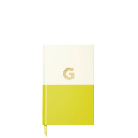 Dipped Initial G Notebook, ${color}