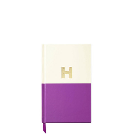 Dipped Initial H Notebook, ${color}