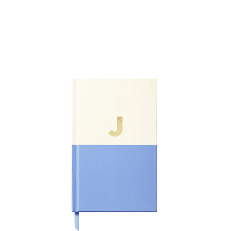 Dipped Initial J Notebook, ${color}