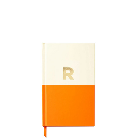 Dipped Initial R Notebook, ${color}