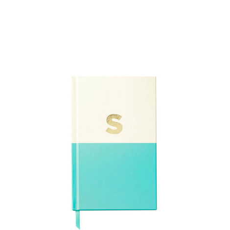 Dipped Initial S Notebook, ${color}