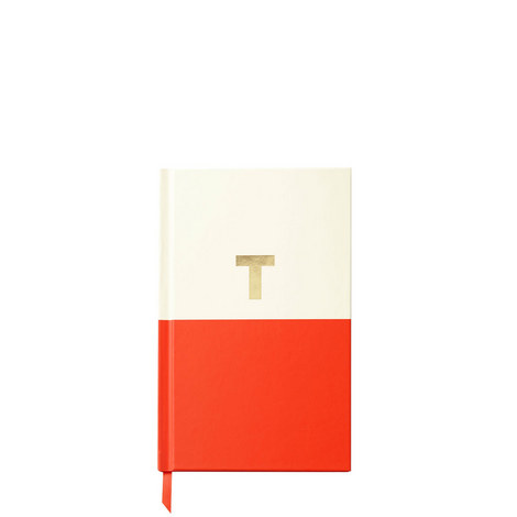 Dipped Initial T Notebook, ${color}