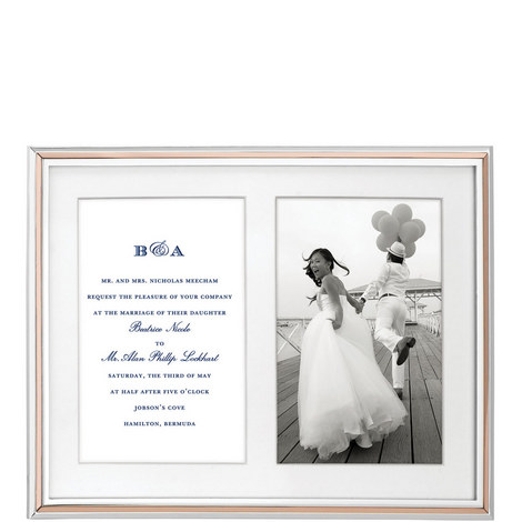 Rosy Glow Double Invitation Frame, ${color}
