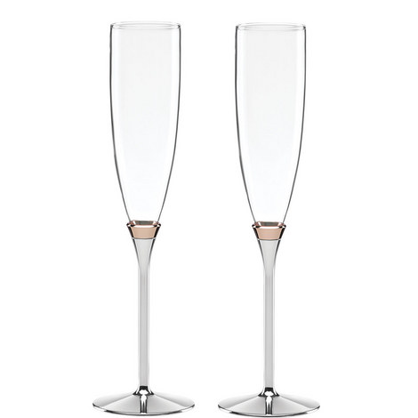 Rosy Glow Champagne Flutes, ${color}