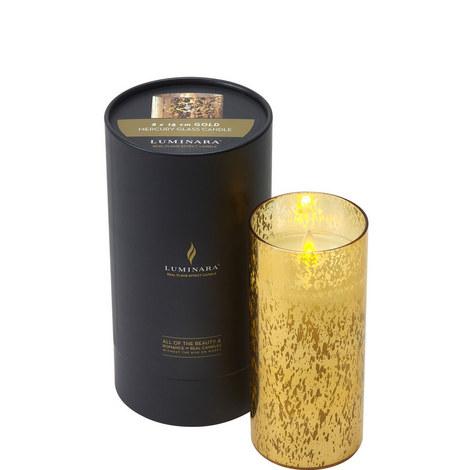 Mercury Glass Candle H18cm, ${color}