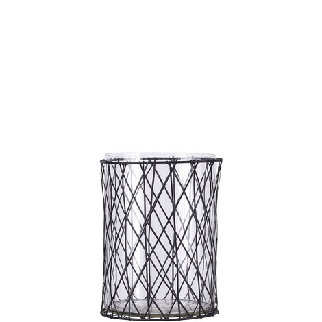 Stripe Candle Holder 20cm, ${color}