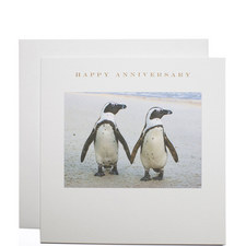 Penguins Happy Anniversary Card