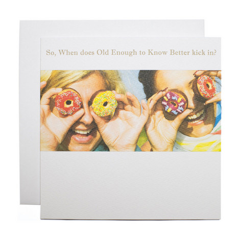Girls With Donut Eyes Birthday Card, ${color}