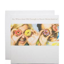 Girls With Donut Eyes Birthday Card
