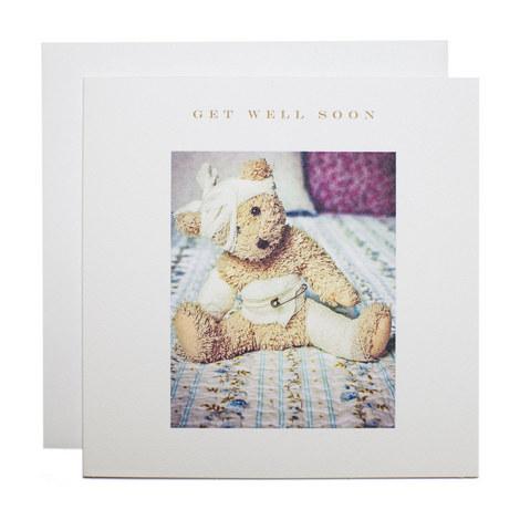 Teddy Get Well Soon Card, ${color}