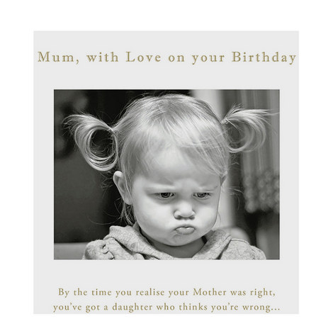 Mum Birthday Card, ${color}