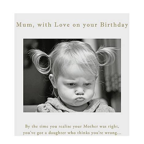 Mum Birthday Card, ${color}