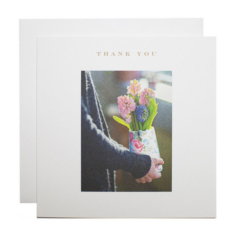 Hyacinths Jug Thank You Card, ${color}