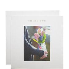 Hyacinths Jug Thank You Card