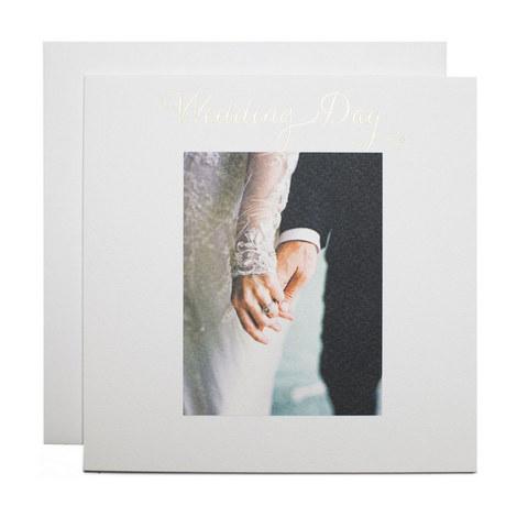 Bride and Groom Hands Wedding Card, ${color}