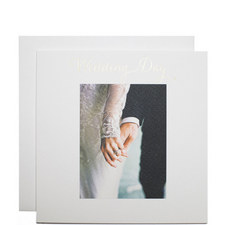 Bride and Groom Hands Wedding Card