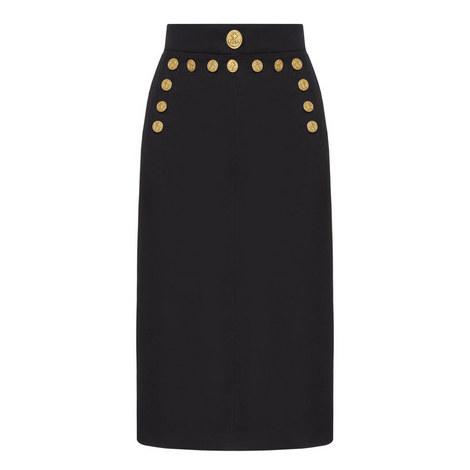 Button Detail Pencil Skirt, ${color}