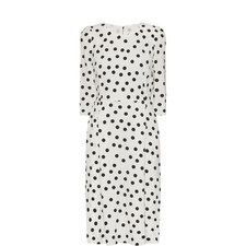 Half Sleeve Polka Dot Dress