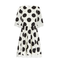 Large Dot Print Dress