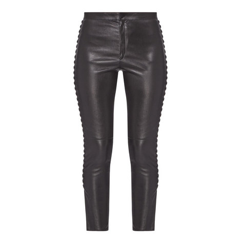 Pretley Leather Trousers, ${color}