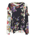 Inny Flower Print Crossover Top, ${color}