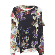 Inny Flower Print Crossover Top