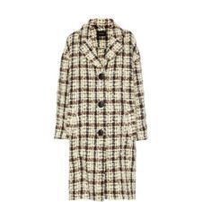 Obi Check Coat