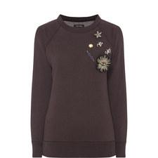 Onyx Brooch Sweatshirt