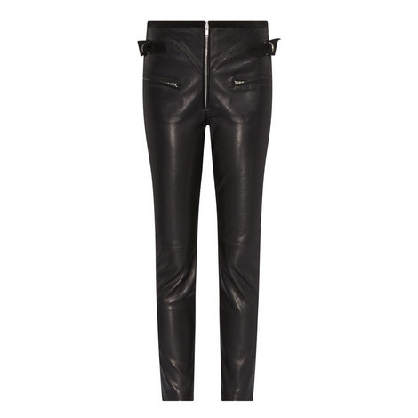 Florrie Leather Trousers, ${color}