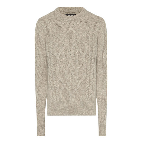 Gayle Cable Knit Alpaca Sweater, ${color}