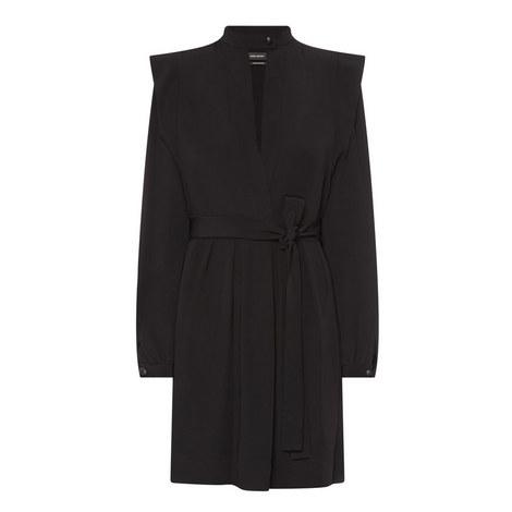 Brad Long Sleeve Crepe Dress, ${color}