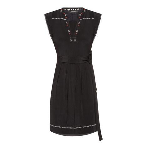 Fergie Embellished Silk Dress, ${color}