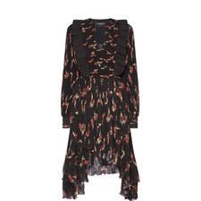 Wesley Floral Print Pleated Midi Dress