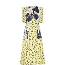 Thalia Camomile Print Dress