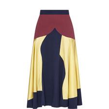 Rania Patchwork Silk Skirt