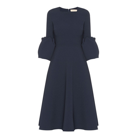 Margot Bell Sleeve Crepe Dress, ${color}