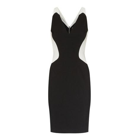 Optical Illusion Sleeveless Dress, ${color}